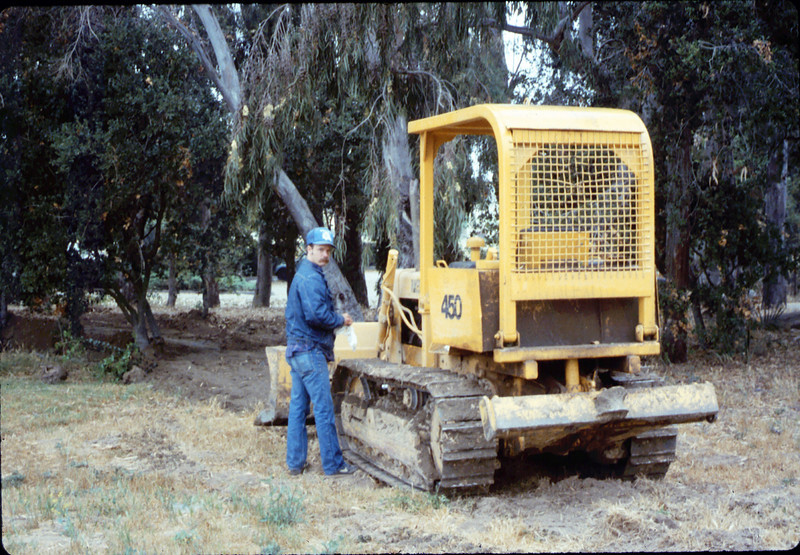 Banner Construction clears ground for miniature-railroad right-of-way construction, 5/1987 acc2005.001.0798