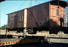 Gene Allen works on the raised caboose body, 9/25/1986 acc2005.001.0617