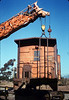 Specialty Crane & Rigging raises the caboose body off of its trucks, 9/25/1986 acc2005.001.0615