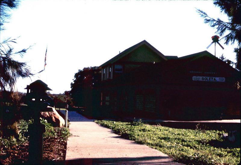 Goleta Depot exterior, 1/1985. acc2005.001.0465