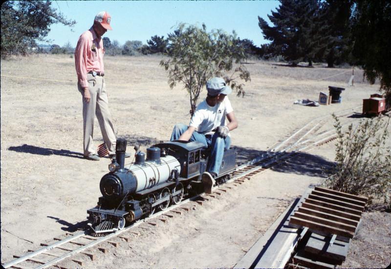 Santa Barbara Railroad Centennial (Steve Kramer, engineer), 8/1987 acc2005.001.0853