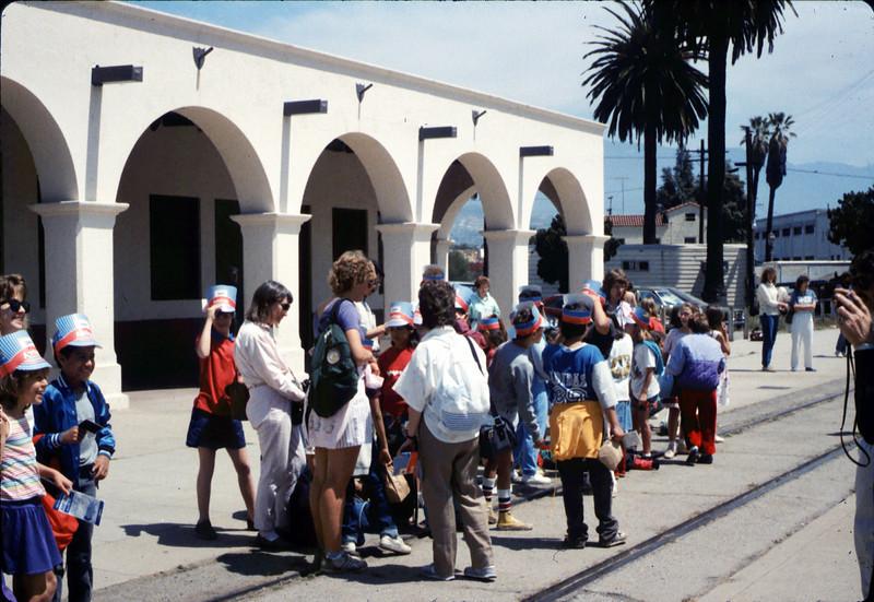 La Patera Elementary School rail trip to San Luis Obispo, 4/23/1987. acc2005.001.0782