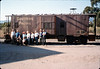 Museum friends pose with Caboose 4023 at La Patera, 9/21/1986 acc2005.001.0607