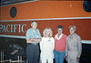 Handcar race team members - Gene Allen, Phyllis Olsen, Anna Dato and George Adams - at Calif. State Railroad Museum, Sacramento, 9/18/1987 acc2005.001.0865