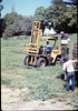 Track materials from Sears Spur in Goleta are donated to museum, 4/1987. acc2005.001.0735