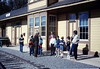 Phyllis Olsen leads tours of Goleta Depot to scout group, 3/1987 acc2005.001.0728