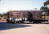 Museum friends pose with Caboose 4023 at La Patera, 9/21/1986 acc2005.001.0608