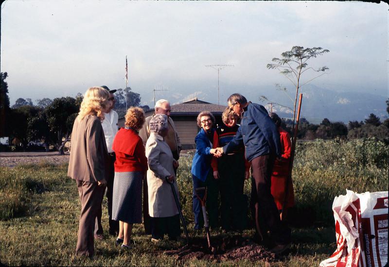 Arbor Day tree planting (Little Gardens Club), 3/1986. acc2005.001.0546