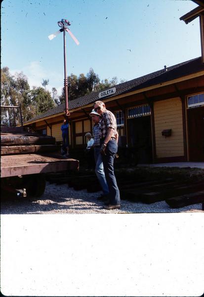 Laying of the standard-gauge track (Gene Allen), 5/11/1985 acc2005.001.0507