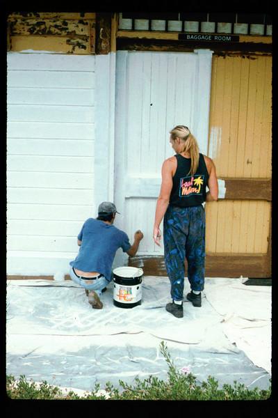 Goleta Depot gets a new coat of paint, 1992. acc2005.001.1644
