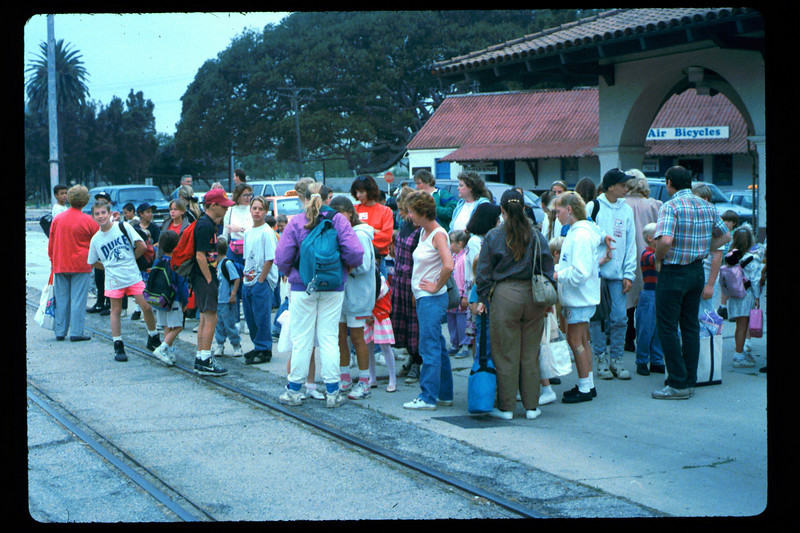 In Spring 1992, the museum led four school rail excursions. See Depot Dispatch, Vol. 12, No. 2 (Summer 1992) for details. 1992. acc2005.001.1600