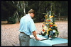 Memorial and tree-dedication honoring late museum benefactor Earl Hill, 8/8/1992. acc2005.001.1662
