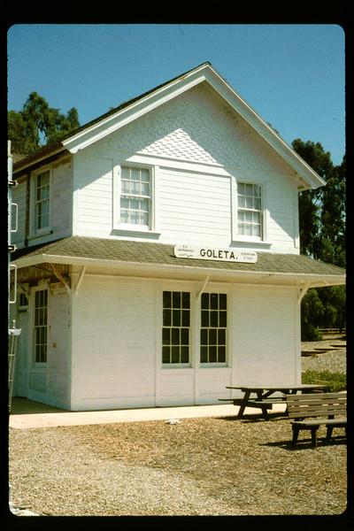 Goleta Depot exterior gets a new coat of paint, 1992. acc2005.001.1649