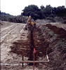 "Before Goleta Depot could be moved to its new site, trenches had to be excavated for the foundation footings, 1982.  If this photo is your favorite, click on the ""ADD COMMENT"" button at the lower left to tell us why you like this particular photo. Please include your name and contact information (Parental approval is required if you are under age 18). acc2005.001.0009"
