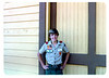 "This photo was taken in 1982. Do you recognize this scout? Do you know why his photo was taken outside of Goleta Depot? If you can help,  use the ""ADD COMMENTS"" button in the lower left to tell us. Please include your name and contact information. acc2008.004.0089"