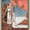 "'""Tell me the way, then,"" she said, ""and I'll search you out""<br /> <br /> Illustration by Kay Nielsen in East of the sun and west of the moon (1914), (198 x 150 mm)"