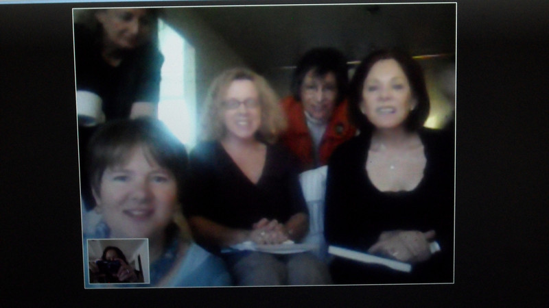 Skype chat with a Glencoe, IL book club!