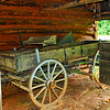 Old wagon at the barn
