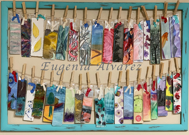 Original Hand Painted Watercolor Bookmarks