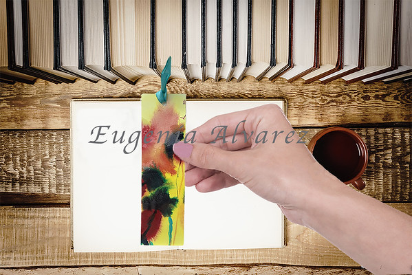 Original Hand Painted Watercolor Bookmark