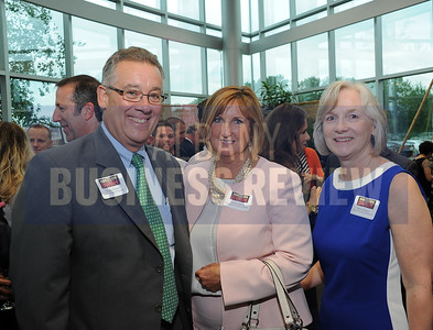6-18-2015, Albany Business Review's Book of Lists bash. Chuck Steiner of Capital Region Chamber, Jeanne Maloy of Marshall & Sterling Upstate and Katie Doran of Teal Becker and Chiaramonte.