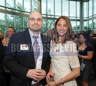 6-18-2015, Albany Business Review's Book of Lists bash. Matt Allegretti and Stephanie Bintz from Clipcentric.