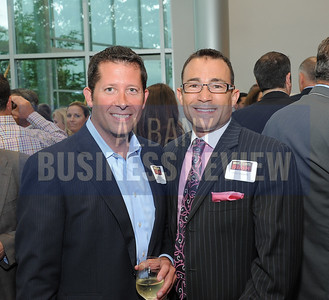 .6-18-2015, Albany Business Review's Book of Lists bash. Jamie Thompson of American Energy Care and John Daniels.