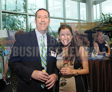 6-18-2015, Albany Business Review's Book of Lists bash. Dave Wojeski from Wojeski & Company CPA's and Daniela Corvalan from Fort Orange Press.