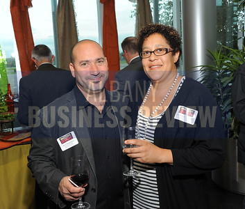 6-18-2015, Albany Business Review's Book of Lists bash. Brett and Devorah Wasserman from Brett Howard Films/Silhouette Art on Video.