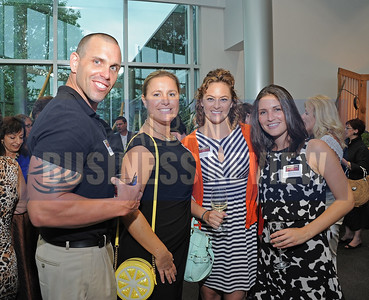 6-18-2015, Albany Business Review's Book of Lists bash. Douglas Robinson of Marvin & Company with Center for Economic Growth staff Holly Yost, Andrea Swank and Madeleine Petraglia.