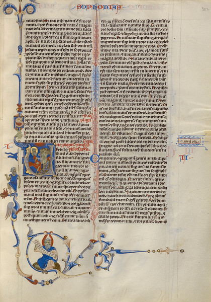 Initial V: Zephaniah with a Group of Grieving Men