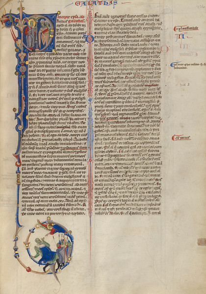 Initial P: Paul with Two Bishops