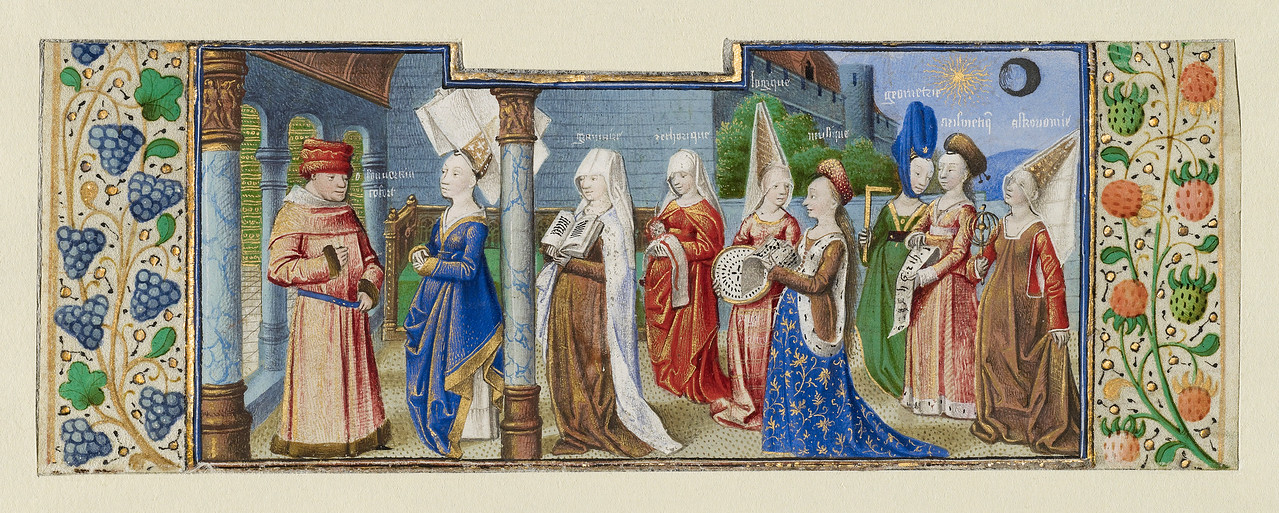 Philosophy Presenting the Seven Liberal Arts to Boethius