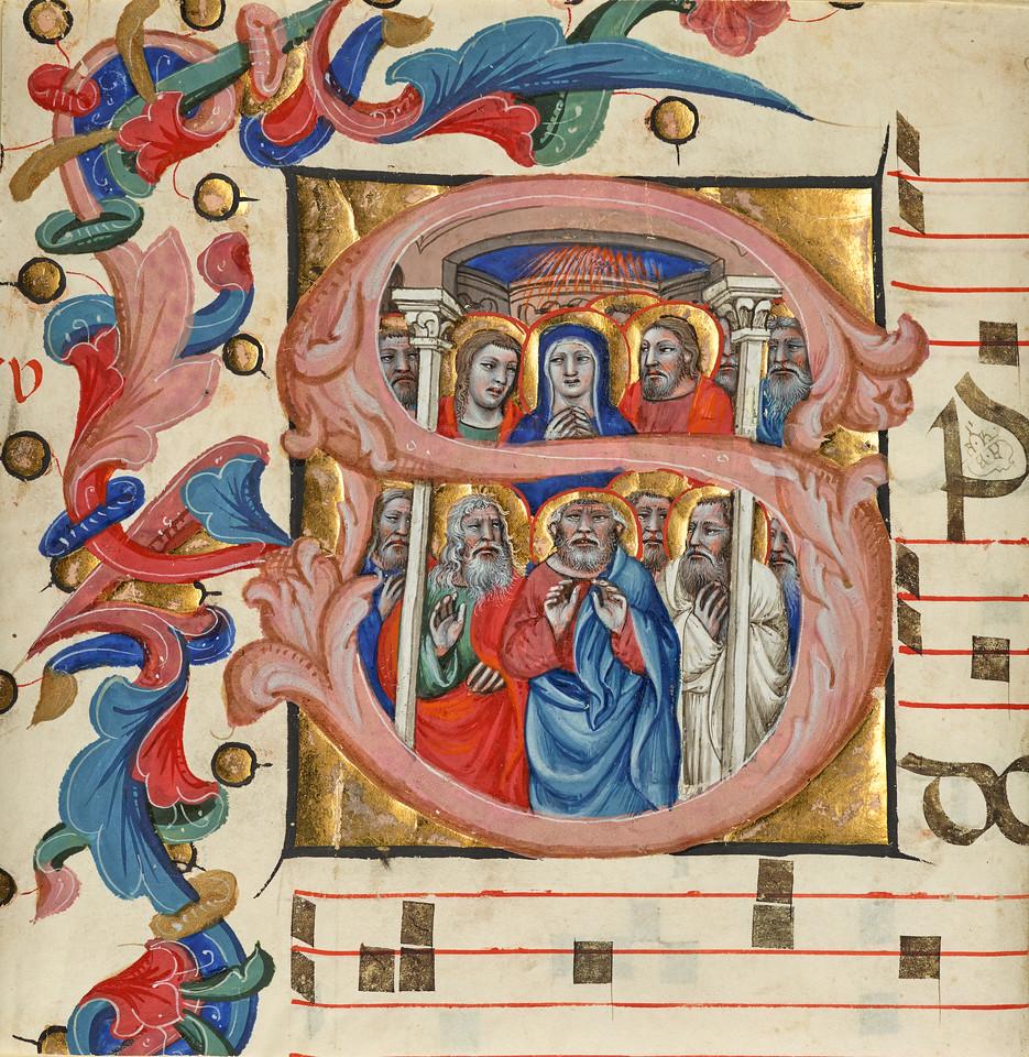 Cutting from a choir book