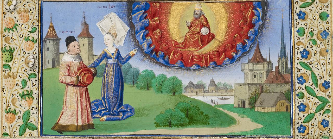 Philosophy Instructing Boethius on the Role of God