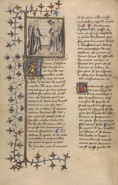 William I and Bishop Lanfranc of Canterbury