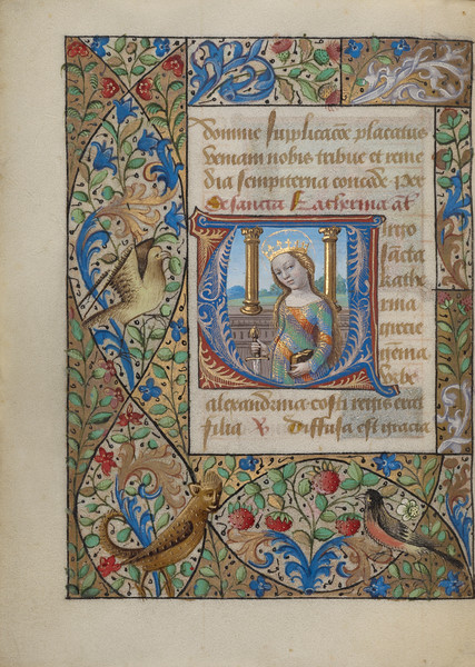 Initial V: Saint Catherine