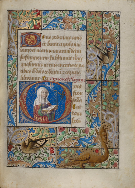 Initial O: Saint Geneviève