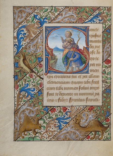 Initial S: Saint Christopher