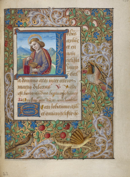 Initial J: Saint John the Evangelist