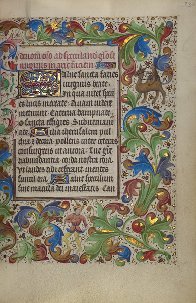 Decorated Initial S