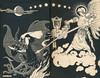 Frank C Pape <br /> Endpapers for 'Jurgen'  Bodley Head 1921
