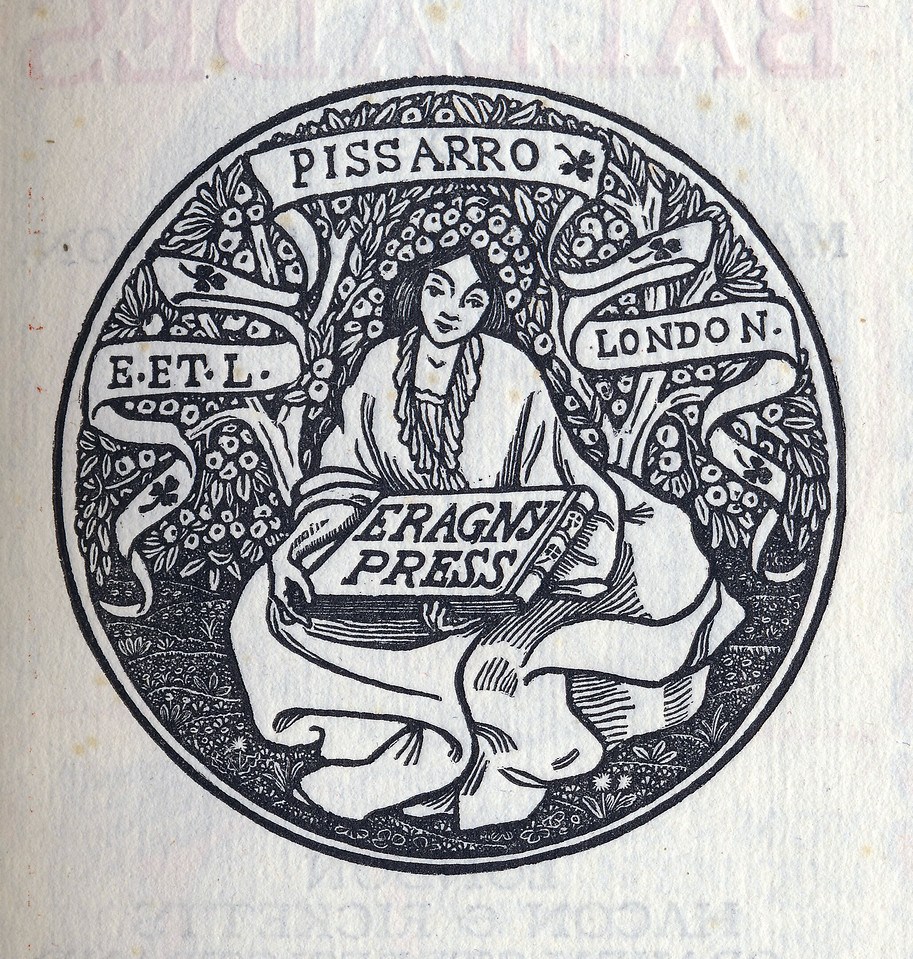 Lucien Pissarro, Eragny Press colophon