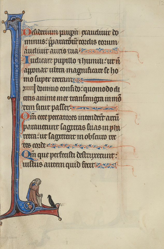 Initial I: A Man Looking at a Sparrow
