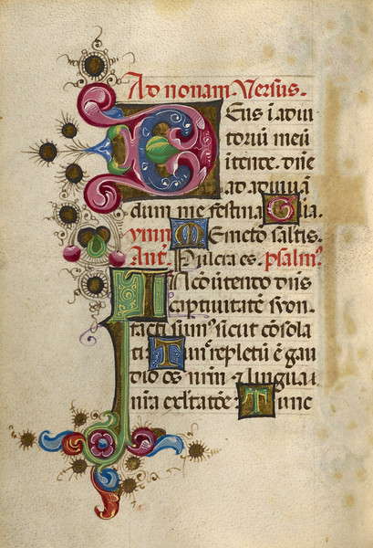 Decorated Initial D; Decorated Initial I