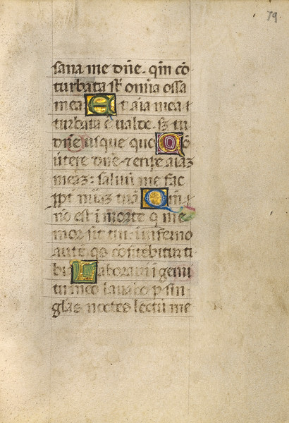 Decorated Initial M; Decorated Initial D