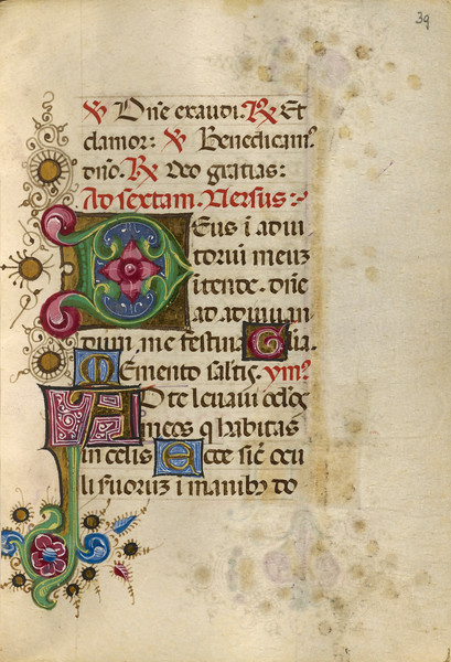 Decorated Initial D; Decorated Initial A