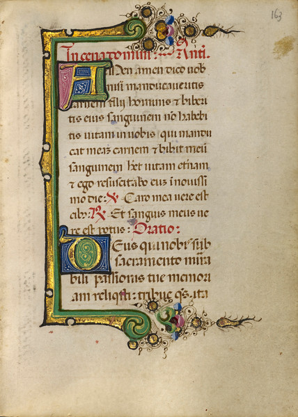 Decorated Initial A; Decorated Initial D