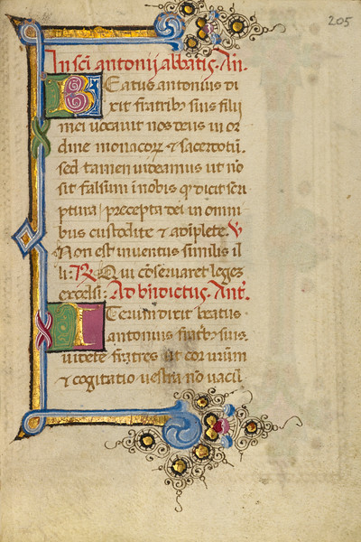 Decorated Initial B; Decorated Initial I