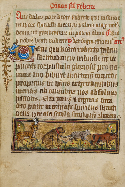 Four Animals in Procession
